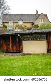 Wooden Barn Near The Historic Dovecote of Naunton, Cotswold