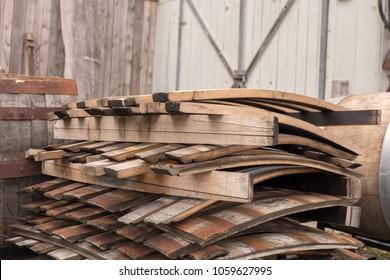 Feuilles de tonneau en bois