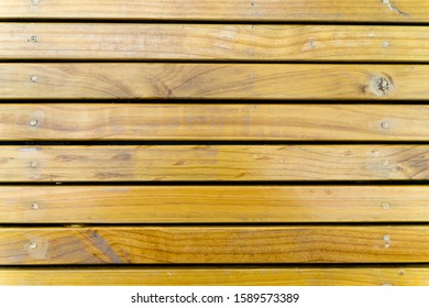 Wooden battens pattern background in horizontal, copy space.