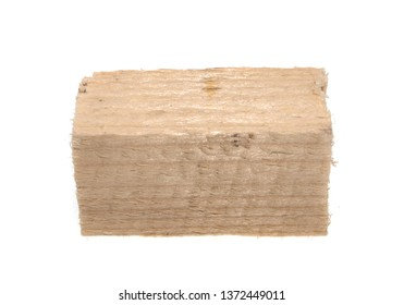 wooden beam isolated on white background