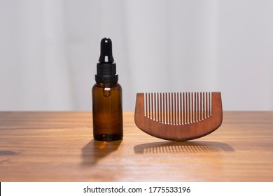 Wooden Beard Comb and Oil