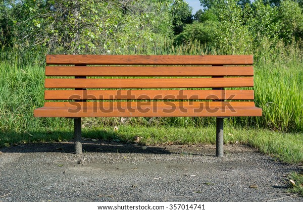 Outstanding Wooden Bench Offers Place Sit Suburban Stock Photo Edit Now Pdpeps Interior Chair Design Pdpepsorg
