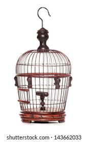 wooden bird cage studio cutout