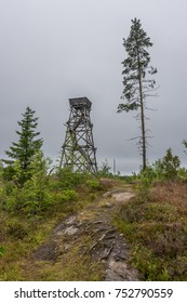 Wooden birdwacthing tower in the island of Paalasmaa, Finland