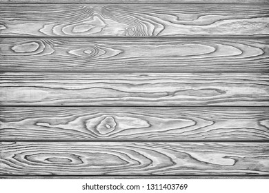 Wooden black and white background. Texture with an old, rustic, gray planks