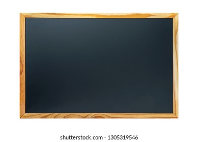 Wooden blackboard isolated on white background.