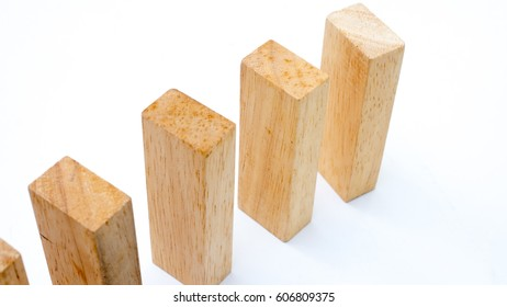 wooden block concept your Choice on white background