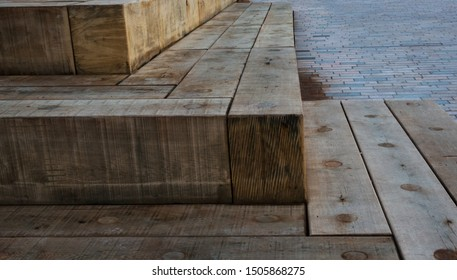 Wooden Block Steps made from natural wood