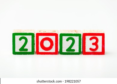 Wooden block for year 2023