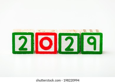 Wooden block for year 2029