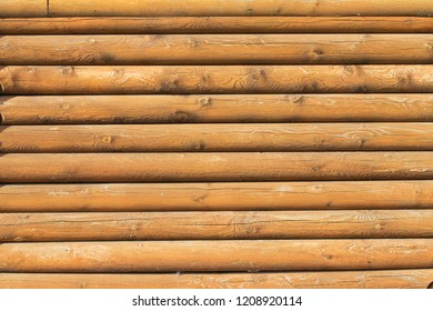 wooden blockhouse wall background