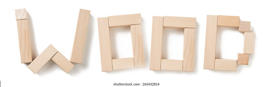 Wooden blocks alphabet