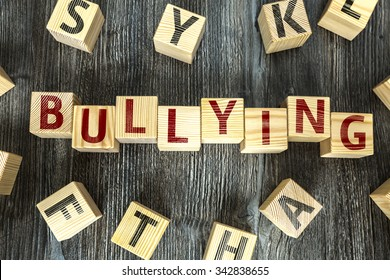 Wooden Blocks with the text: Bullying