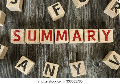 Wooden Blocks with the text: Summary