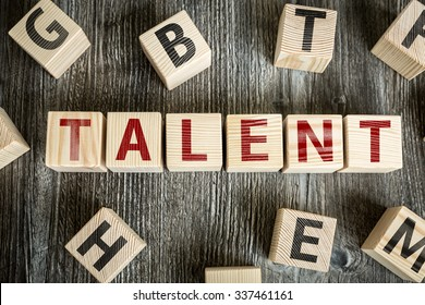 Wooden Blocks with the text: Talent