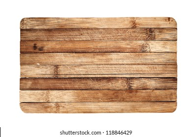 Wooden board background, isolated on white.