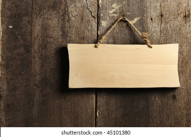 wooden board hanging on the wall