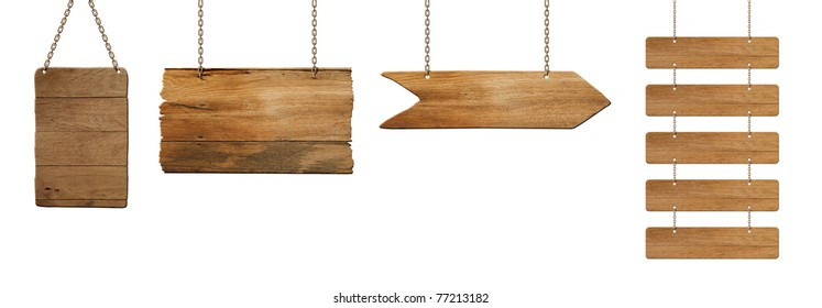 wooden board hanging on white