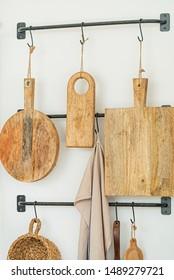 wooden board on the hooks