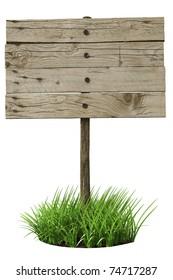 Wooden board sign (3d illustration)