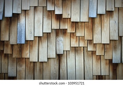 Wooden board surface in wave form