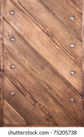 wooden boards with bolts