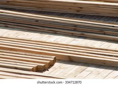 Wooden boards - building materials