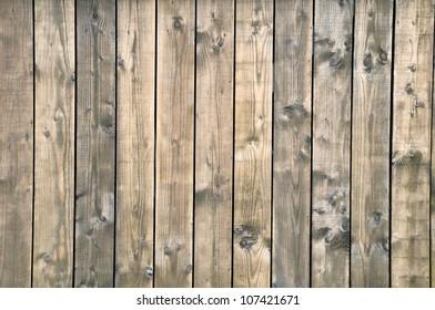 Wooden boards dark brown