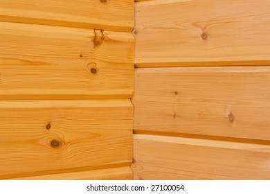 Wooden boards horizontal, wall
