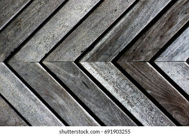 Wooden boards are patterned triangle backgrounds.