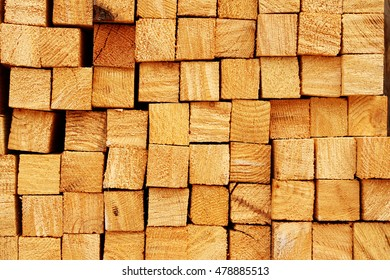 Wooden boards in a warehouse of building materials