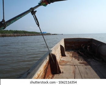 Wooden Boat in the river
