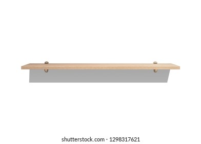 Wooden bookshelf on a white background, isolated