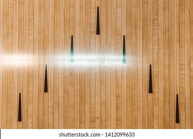 wooden bowling lanes, bowling hall