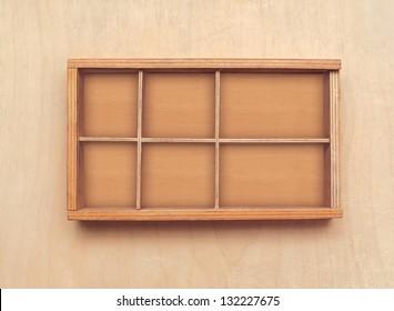 Wooden box or bookshelf background
