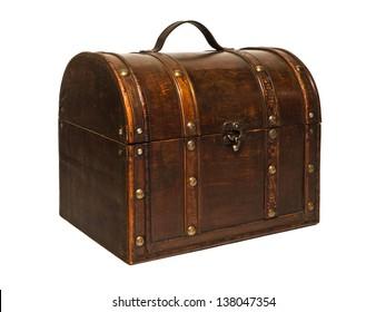 wooden box, wooden chest, treasure chest, treasure chest