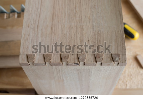 Wooden Box Dovetail Joint Woodworking Stock Photo Edit Now