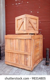 wooden box in front of cargo
