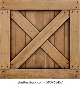 wooden box isolated on white background. 3D illustration.