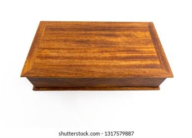 Wooden box made from iroko wood