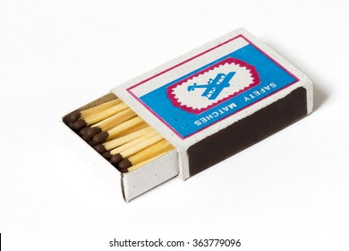 Wooden box of matches