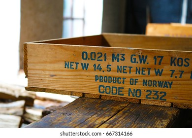 Wooden box for packing products from Norway