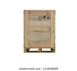 wooden boxes on palette isolated