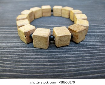 Wooden bracelet. Wood block craft ideas