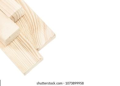 Wooden bricks isolated on white
