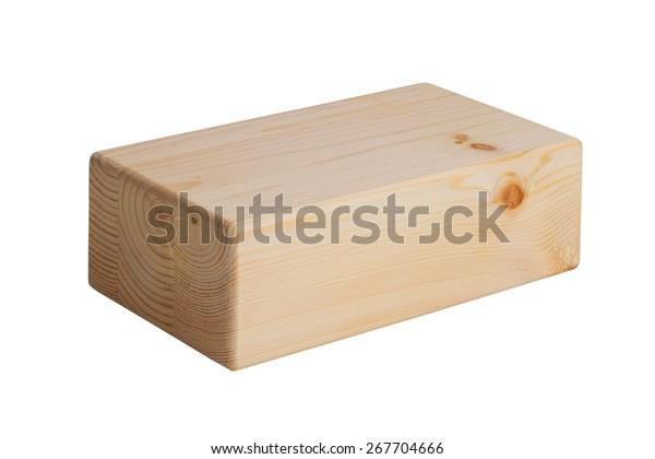 Wooden Bricks Yoga On White Background Stock Photo (Edit Now) 267704666