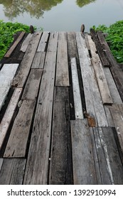 The wooden bridge along the canal is convenient to use water in the canal which is the way of life of the canal community. Also used as a boat to travel along the canal as well.