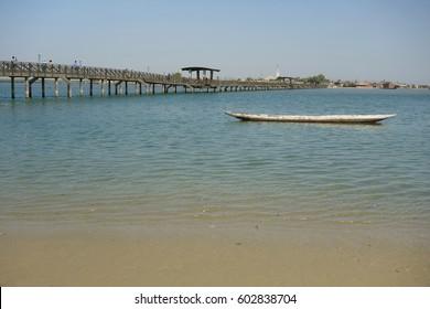 Wooden Bridge between Joal and Fadiouth, Petite Cote, Senegal