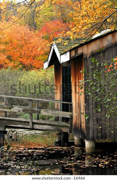 wooden bridge entry