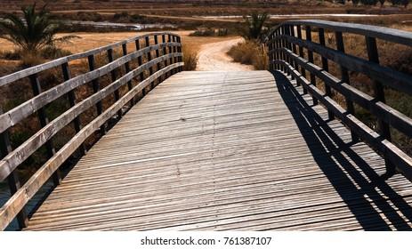 Wooden bridge near Tavira, Portugal